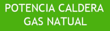 POTENCIA CALDERAS GAS NATURAL